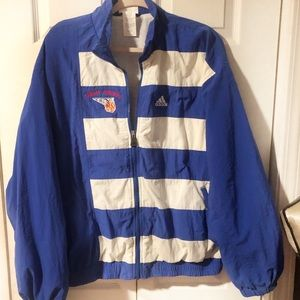 90s Adidas Thomas Johnson basketball jacket